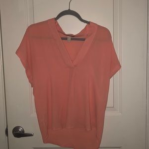 Coral sheer forever 21 top